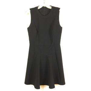Madewell Anywhere Fit and Flare Dress Black Sz 4